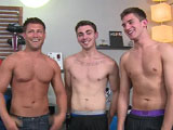 gay porn Troy Asher And Bobby Orgy Scen || Good things come in threes, and weve got a damn good thing going on today!  Bobby, Asher and Troy are starring in a threesome, and thats a pretty rare thing here on College Dudes.  But Bobby requested the company of two other dudes at once, and who are we to turn down such a kinky request?