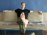 gay sex porn Straight Soles! || This Former Gymnast May Be Straight but He's Totally Down With a Bunch of Dudes Getting Off on His Feet. One Look At Those Smooth Soles and Perfect Toes and You'll Give Him a Perfect 10! Gary Kicks Off His Sneakers to Reveal His Sweaty Bare Feet. Wiggling His Toes as He Paws At His Cock Still Inside His Gym Shorts. He Strips Naked and Shows Off His Curvy Weiner With His Beautiful Male Feet Right Up In the Camera. a Cocky Look on His Face as He Gets Off on Showing Off! He Pulls His Legs Up and Pokes At His Asshole With an Exploratory Finger. Sliding His Slippery Digit Inside His Body as His Toes Flex and Curl In Response to the Overwhelming Sensation of Being Fucked for the First Time. He Pulls His Finger Out and Hops Up on His Feet to Shoot a Thick Load of Cum All Over the Table. Stopping to Admire the Mess Before Smearing His Smelly Soles Around In the Creamy White Goodness Until They Glisten In the Afternoon Light. Nice Dismount!