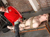 gay porn Edwin Sykes And Ashton || Ashton has really been enjoying exploring his foot fun with some of the passive slave boys, and this time it's hung young Edwin gratifying the horny hung lad. Edwin is tied down already, naked and hard, and Ashton knows just what to do with him. Feeding him his cock, tickling his feet, sucking the boys big dick and using a pin wheel to make him squirm, Ashton finally starts to enjoy his foot fucking. He thrusts his hard dick between the boys feet and uses him, wanking himself off and covering the boys naked feet with his hot cum!