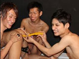 "gay porn Samurai Time Freeze || Oh my, Japanboyz.com has a sweet treat for us, and them today. Four boys begin, but who will ""cum"" in the end. Sitting on the bed, there is Nobu on the left, then Masa and Shinobu, in the red shirt. Our fourth boy is Kenshin, who wheels an ancient ""Magical Samurai Sword,"" freezing time. With this power, Kenshin strips all three twinks as they are unable to move; dare I say, it's like an Asian buffet. ""Butt,"" let's watch and see if the three can use their own ""powers"" on this boy and his ""long weapon."""