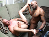 gay sex porn Room Service Part 3 || Jay just finished blowing his load but what he didnt know was that Diesel was watching him the whole time waiting for the right moment to intervene. Diesel can see Jay still relaxing after winding down from his load and thats when Diesel comes walking in with a towel. Jay is very surprised and fully naked yet pleased to see that he now has a towel to clean himself up with. Diesel is not here to clean anything up and Jay has been wanting some thick dark cock deep inside his ass and so he bends right over for Diesel legs spread, awaiting his hot mouth and cock. Diesel jumps to it and face dives into that bubbly ass and lets his tongue do the rest. Fully rock hard he has Jay service his massive cock and big low hanging balls. With his cock throbbing he bends Jay over and slowly eases into that tight eager ass balls deep. Once in, Jay moans with excitement as the thick cock slides in and out of his ass. Diesel manhandles Jay to the fullest extent pounding away at that ass until he blows a nice hot load all over Jays face. Enjoy!