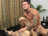 gay porn R157: It's Thick Bareback || David Is a Wild Guy With a Hot Wrestler's Body That He's Willing to Try Just About Anything With. Today He Gags on Reese's Thick Cock Before Getting Fucked Bareback by It.
