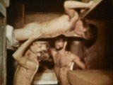 Vintage Bathhouse Sex Party ||