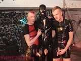 gay porn Rubberguy And Two Punk || <br />perverted Rubber Pig Lays In the Sling In a Sleazy Fuck Dungeon. Only His Orificies Can Get Some Air In His Super Sexy Rubber Outfit. Porn Dickhead Bastian Sees His Chance to Fondled With the Fuck Holes of His Black Master. Also Holger's Big Cock, Normally a Three Star Submissive, Can Join In and Fucks His Brain Out. Watch for Yourself!