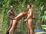 gay porn Black Men 2 || What an Incredibly Beautiful Jungle It Is! Not Just the Verdant Greenery -- Also the Chocolate-colored Muscle-macho Pero Boteino Who Stands Beating His Enormous Meat -- Hungry for Company From Any One of the Bazillion Brazilian Boys Lurking Behind the Tangled Mass of Trees! Sun-kissed Blonde Beauty Pero Coresma Ends Up Being the Lucky Bottom. First, Theyre Joined In Their Cliffside Jungle Nook by Latin Super-beauty Denis Torres, Who Constantly Keeps a Vigilant Eye, Even as He Gets Power-blown by the Blonde Brazilian Studmuffin. After Swallowing and Choking on His Dark Tops Human Anaconda, Pero Coresma Squirms His Eager Ass Up and Down the Entire Length of Pero Boteinos Impressive Donkey-dick. After the Black Beauty Awards His Bottom With a Juicy Load of Cum, He Runs Away Into the Jungle Leaving Blondie and the Latin Supermodel to Deposit Their Sweaty Loads All Over the Jungle Brush!<br />