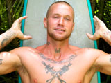 "gay porn Tattooed Surf Stud Din || Everybody LOVES a BIG COCK, Dino states with a sexy smile as he strokes his 9 inch monster dick. This 27 year old tattooed skinhead surfer has one of the most POPULAR cocks on Waikiki Beach! This blue collar handy man muscle jock is popular with the ladies everywhere he goes. If you hire Dino to work around your house, he will gladly take off his shirt and expose his ripped muscles and tattoos. Since our first shoot, surfer Dino has buzzed his head and grown a sexy chinstrap beard which bear lover's will appreciate! This is a very intimate behind the scenes video of Dino and his surfboard! Watch how he enjoys stoking his BIG beautiful 9"" cock with one hand while holding his surfboard with the other! His bright blue eyes match the blue ring around his longboard. There is some GREAT footage of this sexy THUG tugging on his LONG DONG with his big ball sack dangling behind his white surfer butt cheeks. Dino is a hot muscle jock with the perfect working class tan lines: smooth boy white ass and white muscular thighs surrounding his yummy pink monster dick! Dino has one of the most beautiful cocks we have seen on Island Studs! Look at the expression on his face when I hand him a rack of yellow bananas and he lays his long dick over the fruit. Dino's dong is bigger than the Hawaiian bananas! You can tell this tattooed surf Stud spends hours every day in the warm Hawaiian waters! Check out his creamy white ass cheeks and ripped muscle body when we put him to work sawing down tall trees in the forest! Dino looks so sexy as he sweats doing his work completely nude outdoors! Fully naked and covered in his own sweat, he confess that he enjoys working naked for our cameras! Nudist Dino looks great working naked outdoors with his big hard dick dangling between his white muscle thighs! Watch Dino take a VERY LONG PISS in the garden. His thick stream of pee flows out of his semi hard juicy cock for such a long time that he PLAYS with the fountain of PISS as he urinates! This Power Pisser scene is super HOT! Dino is a rough looking thug guy with a sweet friendly smile and a humble personality that is so attractive! He is a sweet sexy bad boy with a dinosaur-sized cock! This exhibitionist has no problem being photographed from behind! Watch him shove his big dick and ball sac between his muscle thighs as he kneels on a chair, giving us a fantastic view of his junk and creamy white surfer butt! Once Dino sits down to jerk his BIG BEAUTIFUL COCK, we see him really enjoy himself. He LOVES pulling on his BIG BALLS while he jerks off. Watch how he tugs and twists his heavy nut sack with both hands while he greases his rock hard dick! Look how ROUGH dirty Dino jerks and manhandles his COCK AND BALLS! The geyser of cum that erupts when he nuts is not to be missed! We are so pleased that this sexy ladies man is back on Island Studs. Surfer boy Dino can be seen walking around the streets of Waikiki with his blue surfboard and big dinosaur dick moving around inside his sexy board shorts! Enjoy!"