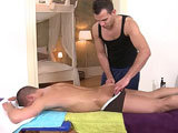 gay porn Wax These Balls And Fu || Well, it's just another day at the office for our hot masseuse as he gets the chance to rub down another sexy gentleman with his soft oily hands. What started out as business as usual ended up being a surprise to our client when Dee rubbed his way into his underwear and sliding his hands into his amazing ass. What transpired next is the stuff that dreams are made of. Nothing like seeing two really hot and gorgeous men getting freaky after a great massage. You really don't want to miss this.
