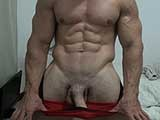 gay sex porn Pumped Up Jock || Alain Lamas Shows Off His Muscles After Finishing a Bicep / Tricep Workout. Really Pumped Up and Horny He Plays With His Cock Until He Shoots a Nice Load