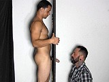 gay porn G123: Victor At The Gl || Victor Steps Up to the Straight Fraternity Gloryhole to Get His Thick, Uncut Cock Sucked and His Big, Swollen Balls Drained.