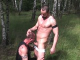 gay porn Euro Forest Pigs || Hot European Men In the Middle of the Berlin Forest Pissing, Fucking and Just Having a Good Piggy Time. Jorge Balantinos Sucks Off Muscle Bear Alex Ryder's Thick Un-cut Cock. David More and David Novak Have a Hot Three Way Piss Scene With Jason Banks.