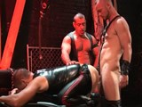 gay porn Shock And Awe Cum Pain || Filthy Whore Lord Krshna Gets His Dick Sucked by Jesse Balboa, Then Bangs Him Over a Sex Bench.  Owen Hawk Joins In the Ass-assault With His Fat Tubesteak and Cums on His Hole.