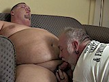 gay porn Big Bellies Big Loads || a Big Mature Bear Sucks and Bottoms for a Big Smooth Chubby Daddy!