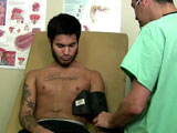 gay porn Larry - Part 1 || Larry is a psychology major wanting to join the basketball team. Of course everyone on the team rnneeds to get their physical first. Larry seemed the quiet reserved type which made me rememberrnthe quiet ones are usually the kinkiest. With that being said, I knew he would succumb to my rnrequest for a sperm sample. His thick dick got rock hard almost immediately after I touched it. He rncouldnt resist but to nut after a few pumps from my latex gloved hands before taking matters into rnhis own hands resulting in a thick creamy explosion.