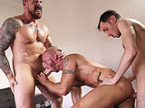 gay porn Rocco Steele And Esteb || A great new update on Timtales today. The two hottest bareback fuckers, Rocco Steele and Esteban from Spain, abusing Aymeric Devilles muscle ass in turns.