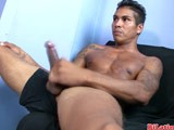 gay porn Latino Jerking Off Dick || Check Out  This Hot Sexy Tatted Latino Jerking Off His Big Fat Uncut Dick. Check Out This and More At Bilatinmen