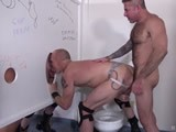 gay porn Cum And Piss Hounds || Nick Moretti Pounds Jason Mitchell's Muscle Ass Through a Glory Hole as Cope and Mason Garet Egg Them On.  Cope Gets Tired of Sitting on the Toilet and Jacking His Big Cock, so Nick Steps Aside to Let Him Have a Go At Jason's Hot Ass While Mason Jacks Jason's Cock and Whacks His Own Meat In the Adjacent Stall.  Derek Anthony Works His Huge Cock Into a Lather From Watching All the Man Fucking and It Starts to Drip Huge Gobs of Precum.  Cope Goes Into the Stall With Mason and Jason and Pounds Mason's Ass While Nick Piston Fucks Jason Through the Glory Hole.  That Sends Derek Over the Edge, so He Breeds Jason's Ass Through the Glory Hole.  Nick Catches Mason Sitting on the Toilet and Pissing on Himself, so He Steps In and Feeds Him a Hot Load of Man Piss.  Nick Bends Down and Starts Sharing Spit With Mason When They Spy a Cock Through the Hole.  They Share a Piss Load From the Loaded Cock.  Another Piss-filled Cock Appears and Delivers a Big Load of Man Piss, Which They Feast on Together.  Nick Grabs Mason by the Jock and Rides His Hot Fuck Hole While Mason Sucks Down a Piss Load Through the Glory Hole From Another Cock.  Nick and Mason Share Another Piss Load From a Big Cock on the Other Side of the Glory Hole.