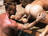 gay porn Chase Hunter And Lane  || See Lane Fuller get fuller than he ever has before, as he takes an enormous hose enema given by classic, blonde super-stud Chase Hunter. Chase makes him hold it and then release it  spraying a crystal clear geyser 5 feet or more from his cock-hungry ass. Chase then gets Lane all lubed up and ready for his 9+ inch super cock! Its a day full of sucking, rimming and hard-core fucking as these two men have loads and loads of fun.