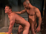 gay sex porn After Hours Scene 3 Adam And K || Shaved-headed Adam Russo wants to go out for a drink and get laid. I dont think we need to leave for that, says colleague Kieron Ryan, eliciting a smile from Adamwho moves in to kiss the tall jock. Kieron is soon worshipping Adams big boner: Play with those balls! Pull em down! demands the increasingly verbal Adam. Suck that dick! All the way down on it! The alpha slides his fingers inside Kierons mouth, leaning down to spit in it before kissing him. Adam finger fucks Kierons mouth before using his cock again, a huge wad of spit connecting the suckers messy mouth and Adams steel shaft. Adam then makes Kierons big dick disappear in his mouth before tonguing, fingering and fucking his hole. Kieron gets it doggie style (his own boner bouncing up and down with each thrust) before getting on his back, Adam grunting like an animal as he grinds inside. Kieron sits down on the top, Adam smiling as his eyes roll up in his head. Kieron shoots a big stream as he rides, then slaps Adams balls as the top moans like a madman while coming.