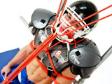 gay porn Marc Dylan And Knotty  || Bound, muscle jock Marc Dylan is tied up in his football uniform. His head is tied to his helmet so he cant move it from side to side. Knotty Brent seizes the opportunity to make Marc suck his giant dick through the helmet until he is fully satisfied.