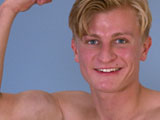 gay porn Straight Lad Josh Show || New lad Josh is one of those tall, broad, blond guys who its easy to get excited about - he's a confident guys, easy with smiles, and happy to show off his body. And its a really stunning body, smooth, muscly and really defined - this lad has an amazing six pack, great pecs, and a really pert bum - and he's happy to show it all off. His cock definitely doesn't disappoint either - uncut, thick and stands to attention! Josh looks great, laying on the bed, with long floppy blond hair, six pack showing, and wanking away for us - he's not timid about showing his hole either - completely smooth - and he parts his cheeks and pulls back his legs to let us have a good look. When he shoots, his abs tighten even further as he unloads on to them. Looking good, Josh!