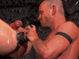 gay porn Wet And Wide Scene 1 T || As he kisses salt-and-pepper bearded Thor Larsson, Ethan Ayers slaps the studs hairy pecs. The mohawked Ethan licks Thors pit, then tugs on his ballshanging low in a stretcher. Thor licks his buds pit, then deep throats his thick slab. Ethan returns the favor, nibbling on Thors foreskin. Thor gets on his knees, begging for pisswhich quickly flies into his mouth, drenching Thors body as the thirsty fucker spits some back up. Ethan eats him out before fucking him deep. On his back, Thor gets a big dildo twisted in, a smiling Ethan punching the base. The alpha slides his fist inside, slowly working his second fist in as Thor guides the muscular forearm. With one arm out, Ethan continues to fist him as Thor grips his own boner. Piss on my hole! he demands, Ethan dousing the red center. Ethan slides his left fist in again, Thor slapping his boner on the studs face. Ethan slides his right arm inside at the same time, both arms in deep as Thor grunts. Ethan swings him back and forth, Thor lifting his ass in the air. With one arm out, Ethan fists him deepnearly up to his elbow. Thor squirts before getting another stream of piss all over him.