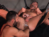 gay porn Power Play Scene 3 Wil || Wrapped in a harness and jockstrap, hairy Wilfried Knight licks down Lance Navarros bod taking out the studs uncut cock and working it up beautifully as side shots capture every gulp. Lance tugs his pierced nips as he gets serviced, Wilfried swallowing the hunks big balls and grabbing his chest. Wilfried slides Lances foreskin up and nibbles it, a spit strand clinging to his beard. Lance grips Wilfrieds harness as he sucks him back, his lips pulling on the foreskin. He tongues Wilfrieds hole, fucking him with three fingers before sliding his dick inside doggie style. The top grips Wilfrieds harness from behind, his tight balls banging the bottoms ass. Lance wraps his arm around Wilfried, pulling him back for a kiss. Soon in a sling, Lance submitsa sounding rod down his dick as the two take turns stroking it, his foreskin sliding up. Wilfried then lubes his handhis wet, hairy forearm twisting as he fists his moaning bud before the two squirt.