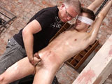 gay porn Zac Langton And Sebast || Zac is one of those boys who thinks he knows what kinky and rough sex is, but as it turns out (and it often turns out this way) his idea of kinky is nothing like what Sebastian has planned! He's starting off easy with this new boy, blindfolding him, restraining him, hanging him from the rafters and working that uncut cock until he's squirming to cum. When he finally can't hold it back, he really does shoot too, splashing out a messy load! But the fun isn't over, the master likes to make his new boys submit with some flogging...