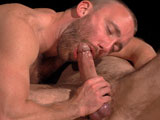 gay porn In The Shadows Scene 3 || Dirk Caber twitches as he sleeps, his hot bod at the mercy of Nick Prescott in his dream. With his wrists and ankles bound to a table, Dirks cock drips and throbs as his ballssqueezed in a stretcherget bluer by the second. Dirk spits a flying wad that lands on Nicks scruffy chin, the two soon kissing as Nick teases and edges his budsqueezing his nipples, tonguing him, spitting in his mouth, exchanging pit licks. He licks down Dirks muscles, a strand of precum clinging to Nicks beard before he opens wide to devour Dirks cock. He rubs Dirks hole, the two spitting at each other as they growl. Nick twists a big dildo up Dirks ass (Want me to stretch your hole more?), the bottoms cock throbbing as he gets it deep. Nick then sits down on Dirks dick and rides, the two taking turns going up and down in a heated fuck. Nick fires off his load before Dirk begs for more: Fuck me! Please fuck me! Nick dildos him again, using his own cum as lube to stroke Dirk off at the same timeexclaiming Yeah, pig! as the grunting hunk releases.