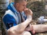 gay porn Kosa Jacks Off Outdoor || This Hot Athletic Stud Is Out for a Jog In the Woods When He Sits Down by a Tree and Removes One Dirty Athletic Shoe, Revealing a Sweaty Smelly Foot Clad Only In a Thin White Sock. With One Hand Stroking His Cock Through His Pants He Lifts the Shoe Up to His Face, Breathing In Deeply All the Sexy Man Foot Smell In His Dirty Shoe. Soon He Peels Off a Sock to Reveal a Pink Smooth Sole Underneath. Now Completely Horny He Strokes His Big Hard Cock Until He Shoots Hot Cum All Over His Bare Smooth Soles.