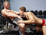 gay porn Dawson And Quinn's Gym || Ripped muscles, a very enticing jock strap and two very horny and hot men make for a scorching gym session!