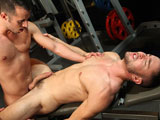 gay porn Workout Scene 3 Ultima || Tanner Shields and Colt Rivers meet at the gym for an intense #Workout. Colt has heard that Tanners biggest muscle is in his pants and he wants it in his mouth. They take turns sucking cock until Colt bends over and offers up his big round furry ass. Tanner fucks a load out of Colt on the bench press then stands up and jerks off into Colts hungry wet mouth.