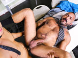 gay porn Performance Review Par || Alessio and Benjamin just got into the office and they are both enjoying their morning coffee when they notice a faint sound coming from the other room. They listen very closely and can hear someone fucking in the other room. They start to laugh and talk about it but then they both get really horny and Alessio begins to grab Benjamins cock. Hard as a rock and horny from the sounds coming from the other room they slowly take their suits off and begin to take turns sucking each other. Benjamin is hungry for that ass and bends Alessio over the break room table and buries his face deep inside. Lubed and ready he pounds that hole until Alessio explodes with oozing cum and Benjamin returns the favor with a hot load of his own. Enjoy!