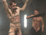 gay porn Patrick Isley And Conn || Patrick Isley has no idea why he is detained— and no idea what Officer Connor Maguire has in store for the night. The officer handcuffs Patrick to the cage, stripping him down and forcing him to worship hard police dick before introducing Patrick's tender muscles to the crop. Officer Maguire continues his game, pinching down on his nipples and balls and surrounding his vulnerable toes with mousetraps. The officer subjects Patrick to an unrelenting flogging as Patrick dances, unsuccessfully, to avoid the mousetraps. Officer Maguire then binds Patrick to his motorcycle, caning his ass and thighs before pounding Patrick's hairy hole. Officer Maguire finishes off his prey by busting a load of cum right into his mouth.