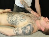 gay porn Thug Gets Happy Ending || London Thug Pete Gats a Massage With a Happy Ending When the Masseur Works His Fat Uncut Cock