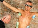 gay porn Kenzie Mitch And Sebas || Master Sebastian has had a couple of his boys subdue Kenzie and tie him up naked and ready. His shaved and limp cock is delicious as the master wanks and sucks him, but Sebastian wants more from the restrained boy. Pegs are applied, making him cry out and wince. His slippery body is slick with oil, his cock throbbing with pain and pleasure as the master wanks him into a frenzy, edging his erection until the cum is flooding out of his engorged shaft! A little more torment on his sensitive dick and the relief of removing the pegs ends our cum theft session.