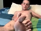"gay porn Skug || There's a lot to love about sporty straight twink Skug. He's an outdoor type, always on wheels of one kind or another. He's also ticklish, and he has some sexy feet to show off along with his big 8"" cock. Playing with his own feet and rubbing his cock on his ticklish soles he jacks out a nice load of cum!"