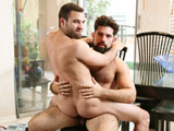 gay porn Huge Property || Braxton is in the market for a new house and nobody better to show him then Alesandro. He takes him all around the inside of the house showing off the best features until a nude painting catches Alesandros eyes. Braxton turns around and notices that hes still looking at the picture on the wall and now rubbing his cock. Braxton was already horned up for this sexy hairy man so he doesnt waste anytime servicing that big uncut cock of his. Alesandro gives this new soon to be home owner a nice hard fucking all over the house and Im sure hell never forget this sexy once in a life time encounter. Enjoy!