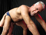 "gay porn Daddy Says Lick It || Oh daddy, when Jeff Grove tells Tiger Milner to, ""let me see that hole, pig,"" you know DaddyRaunch.com is gettin' nasty. Blindfolded and ""opening up,"" Jeff spreads him wide. Like a dog to a ""boner,"" Tiger sniffs out his daddy and is allowed to lick. Begging to, ""taste the flesh,"" Tiger continues to scent out Jeff, who then removes the eye covering. Servicing the top, the bottom follows Jeff's instructions to, ""fuck your face on my cock."" Letting his precum help work his fat cock in, Jeff tells Tiger to, ""push it back there, babe."""