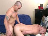 gay porn Adam Bryant Fucks Bill || Adam Bryant and Billy Warren can barely keep their cocks in their pants, and the way theyre going at each other, kissing and touching and grabbing, its not long before their meat is out and theyre grabbing that too! They yank each others cocks for a while, getting their dicks good and hard before Billy gets on his knees and gives Adam head, sucking that sweet prick while he drools all over it, Adams balls dripping with Billys warm spit.