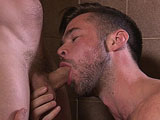 gay porn My Best Friend's Husba || Mike De Marko has plans to go on a run with his best friend and her hot as fuck husband, Adam Bryant. Sadly, his friend is out for the count but he manages to convince Adam to come along anyway. After a long run, Mike suggests to Adam that he showers off his sweaty cock and balls before returning home to his wife. While in the shower, Mike jumps in and somehow convinces Adam to show him exactly what his friend has been raving about.