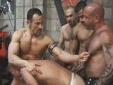 gay porn Hard Muscle Piss Pigs || a Group of Worked Out, Hard, Muscle Studs Get Together for a Warehouse Piss and Fuck Fest. They Take Turns Pissing on Each Other, Then Turn Their Attention to Gang Fucking Chris Neal. They All Take Turns Barebacking Chris' Smooth Hole and Feeding Him Cock Down His Throat.
