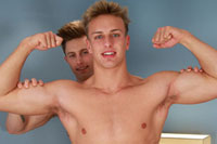gay porn Wesley Gets His 1st Ma || Wesley is a really muscle bound young guy, huge grin, extremely handsome, blond, and just one of those guys who just seems to be built bigger than everyone else! Definitely the sort of guys who turns heads (guys and girls!) when he walks into a room! He has been slightly shy in the past, but in this shoot with Cameron he loses some of his reserve, and after stripping off seems to quite enjoy getting wanked off by Cameron, and even grabs Cameron's cock and wanks him too! Seeing these studs naked is more than a treat, Wes's well built body tenses as he shoots on to himself - yum yum yum!