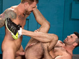 gay porn Billy Santoro And Rocc || Beefy, bearded Rocco Steele has one of the biggest dicks you've ever seen. He sits back and relaxes as muscled, furry Billy Santoro eagerly services Rocco's gargantuan cock. Billy savors every square inch of Rocco's meat...