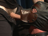 gay porn Jackson Fillmore And C || Hot boy next door Jackson Fillmore joins Men on Edge Live to try out puppy play for the first time. He jumps right into the role, submitting to Christian and Sebastian as soon as the puppy mask goes on. Christian leads Jackson around on a short leash and has the pup worship his boots while Sebastian hogties him. Jackson is made to wear a rawhide bone on his balls as they edge him repeatedly, getting suggestions from the members. Jackson is even made to suck his own dick in a piledriver. Sebastian and Christian take Jackson to the bed, bending the eager pup over and toying his his hairy asshole. Jackson may not be allowed to cum yet, but Christian takes the opportunity to blow a load all over Jackson's face. Flipped over Jackson endures an alternate between torment and pleasure as he's relentlessly tickled. An even bigger pup tail plug is inserted before Jackson finally gets to blow his load, obediently lapping up his cum from Sebastian's hand. Helpless to move, Jackson's finished off with a vicious tickling and apple polishing on his sensitive, uncut cockhead.