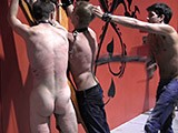 gay porn Used And Bruised Part  || While Master Mykul Is Away, Someone Else Tries to Take Advantage. Stuck Against the Cross, Brayland Is Mercilessly Flogged by Muscled Newcomer Troy Robert. Between the Flogs, He Taunts and Laughs At His Prey - a True Sadist.