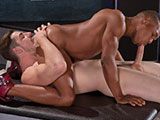 gay porn Adrian Hart And Andrew || Huge in every way, Andrew Stark towers over tight-bodied Adrian Hart, whose satiny chocolate skin contrasts with his brilliant white jock strap. Adrian's 8 1/2-inch cock juts out like a ramrod from his jock, rubbing hard against Andrew's...