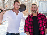 gay porn Dirk Caber And Connor  || Daddy Dirk Caber lusts for his friend's young son Connor Maguire and they meet up for a secret marathon sex session...