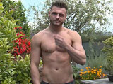 gay porn Tyler Shows His Massiv || Tyler is a stunning guy - a very handsome straight lad, and today he looks sexier than ever with a little stubble on his face. The rest of his athletic muscular body is smooth, he has a really well defined chest, solid legs and a great overall physique - this lad turns heads! It's when he drops his pants that you really turn to look though - his uncut cock is long AND thick - its a solid piece of meat that he's clearly happy to show off, complete with a small piercing in it! Today he's in the roof garden in the sun, enjoying the warmth on his skin and getting all horny for us - he shows off his fit body, including his bum, and then lays back and shoots a massive load over he taut abs - so very very sexy!
