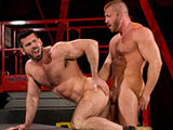 gay porn Hunter Marx And Billy  || Fur and muscle collide when Billy Santoro and Hunter Marx hook up in the warehouse. Their jock straps are so worn and crusty, you can almost smell 'em. Their abs are ridged, their nipples are hard, and rock-hard cocks emerge from...