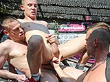 Gay Porn from CazzoClub - Piggy-Beer-And-Spit-Threesome